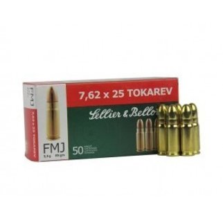 Sellier & Bellot Sellier & Bellot 7.62x25 Tokarev 85 Grains FMJ