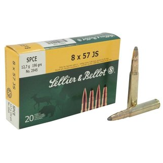 Sellier & Bellot Sellier & Bellot 8x57 JS FMJ 196 Gr. 20 per box