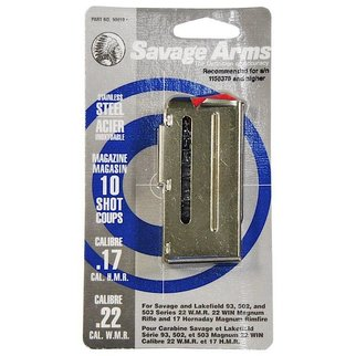 Savage Arms Savage Arms 17HMR 22WMR 10 Round Stainless Magazine