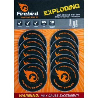 Firebird Firebird Shooting Star 65 Exploding Self Adhesive Shot Gun Targets for Clay Pigeons