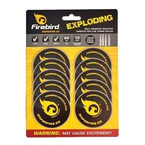 Firebird Sniperfire 65 Exploding Self Adhesive Reactive Targets for Live Firing Rifles