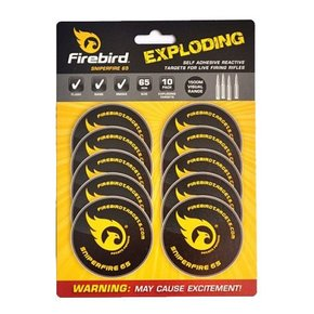 Firebird Firebird Sniperfire 65 Exploding Self Adhesive Reactive Targets for Live Firing Rifles