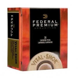 Federal Ammunition Federal Premium Vital-Shok 500 S&W Mag. 325 Gr. Swift A-Frame Jacketed HP Box of 20