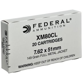 Federal 7.62x51mm FMJ 149 Gr. Box of 20