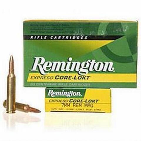 Remington Remington Express 7mm Remington Magnum 175 Grain Core-Lokt Pointed Soft Point Box of 20