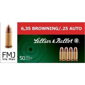Sellier & Bellot .25 Auto FMJ 50 Grain Box of 50