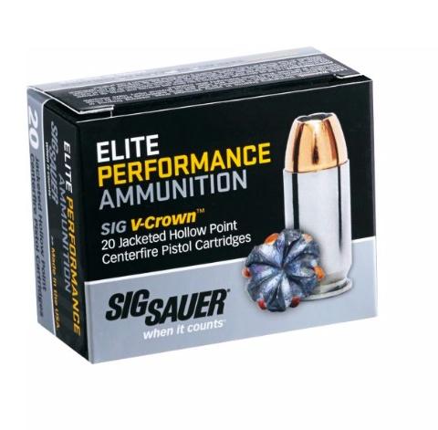 Sig Sauer Sig Sauer Elite Performance 9mm 124 Gr. JHP Box of 20