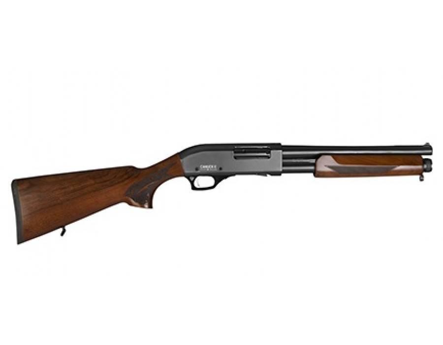 """Canuck Canuck Defender Pump Shotgun Wood 12GA, 2-3/4"""" or 3"""", 14"""" Barrel, 6 Shot"""