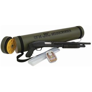 "Mossberg Mossberg 500 J.I.C. Cruiser Pump Shotgun 12 Gauge 18.5"" Barrel 6 Rounds 3"" Chamber Synthetic Pistol Grip Blued Finish with Green Storage Tube"