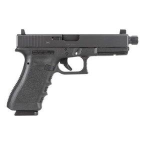 "Glock 17 Gen3 Semi-Auto Pistol, 9mm, 4.5"" Threaded Barrel, Black Finish, Fixed Sights"