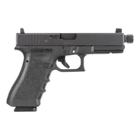 "Glock Glock 17 Gen3 Semi-Auto Pistol, 9mm, 4.5"" Threaded Barrel, Black Finish, Fixed Sights"
