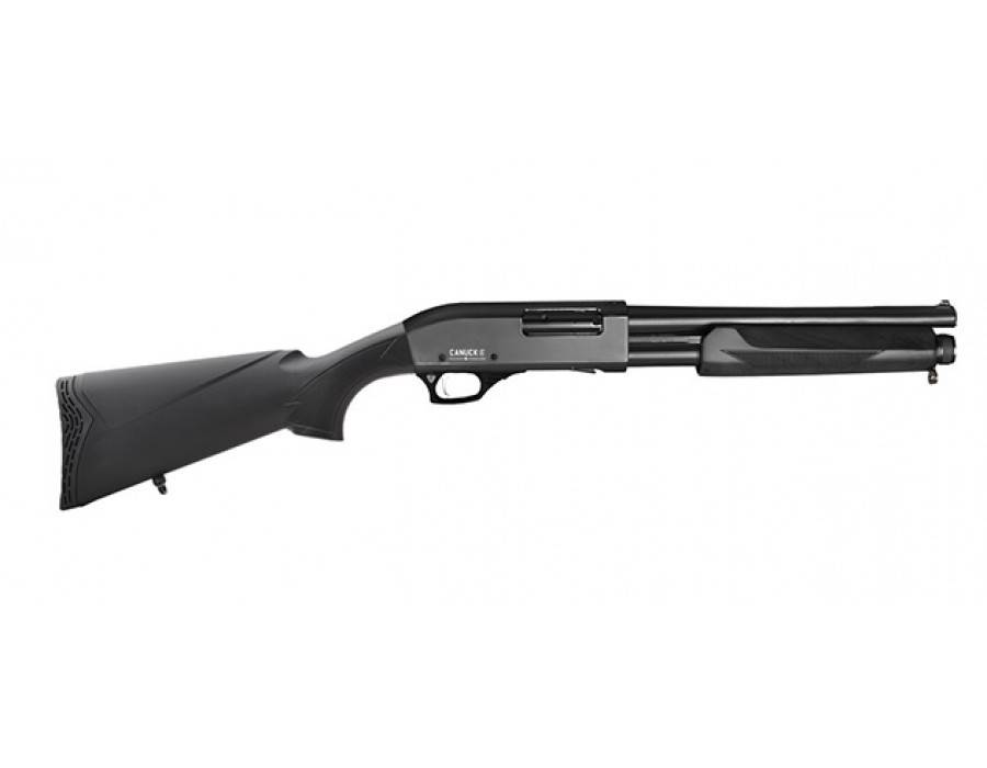 """Canuck Canuck Defender Pump Shotgun Synthetic - 12GA, 2-3/4"""" or 3"""", 14"""" Barrel, 5 Shot"""