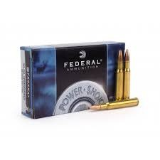 Federal Ammunition FEDERAL POWER-SHOK AMMUNITION 30-06 SPRINGFIELD 180 GRAIN SOFT POINT BOX OF 20
