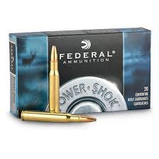 Federal Ammunition FEDERAL POWER-SHOK 303 BRITISH 180 GR. SP BOX OF 20
