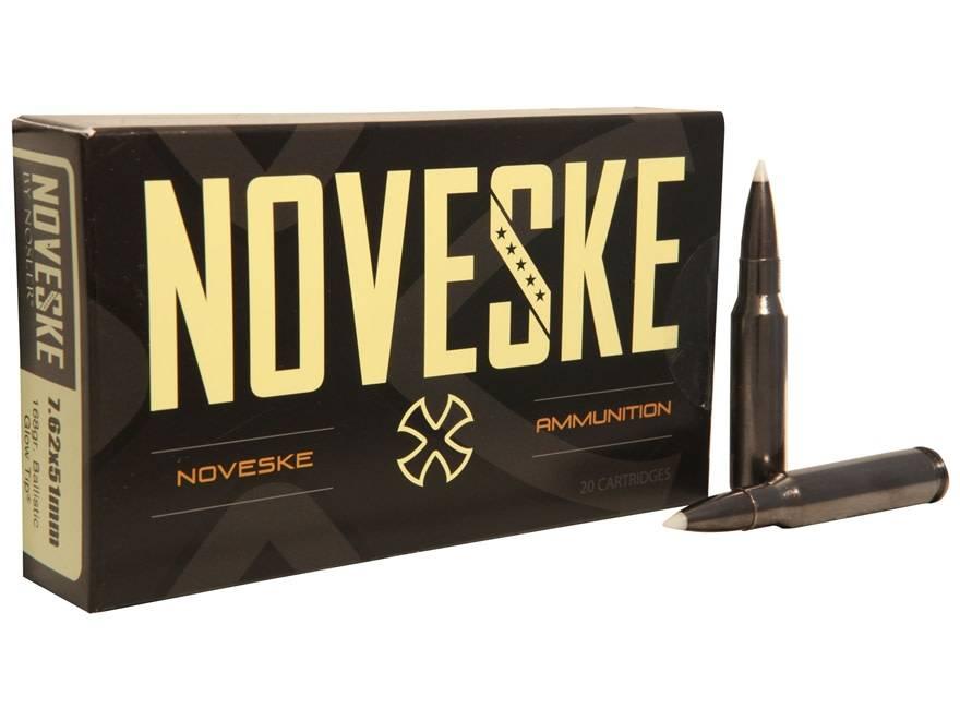 Nosler Noveske Nosler 168 Grain Ballistic Glow Tip Box Of 20