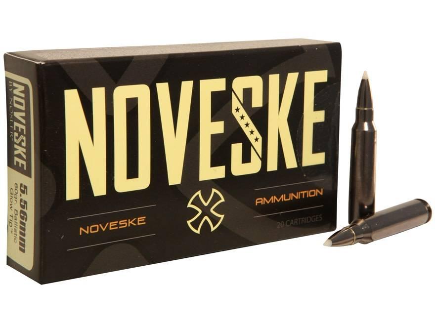 Nosler Noveske Nosler 5.56mm 60 Grain Ballistic Glow Tip