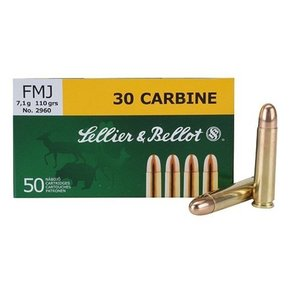 Sellier & Bellot Sellier & Bellot 30 Carbine 110 Grain Soft Point Box Of 50