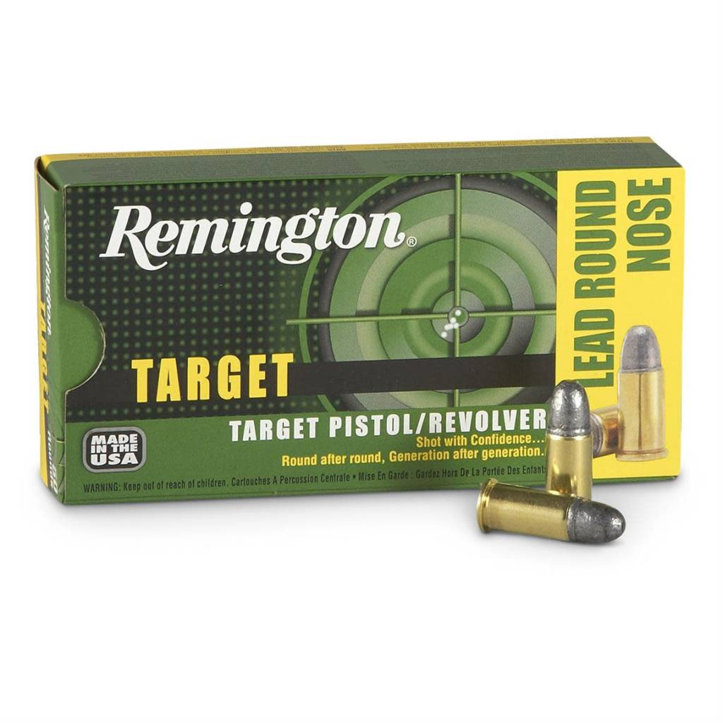 Remington Remington Target 38 S&W 146 Grain Lead Round Nose Box Of 50