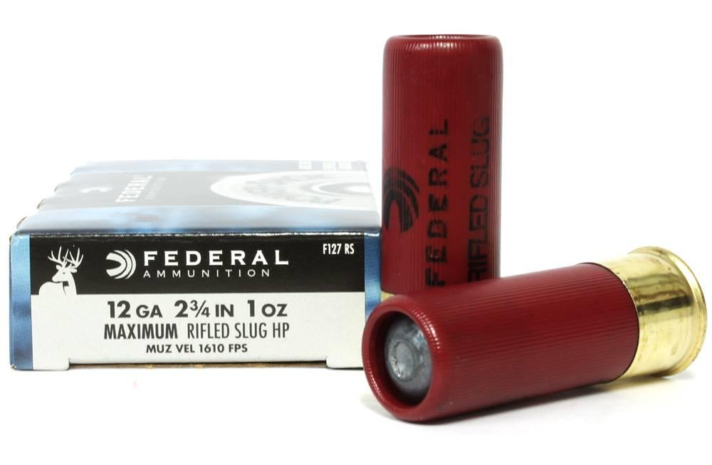 """Federal Ammunition Federal Power Shok 12 Gauge 2 3/4"""" Rifled Slug HP Box Of 5"""