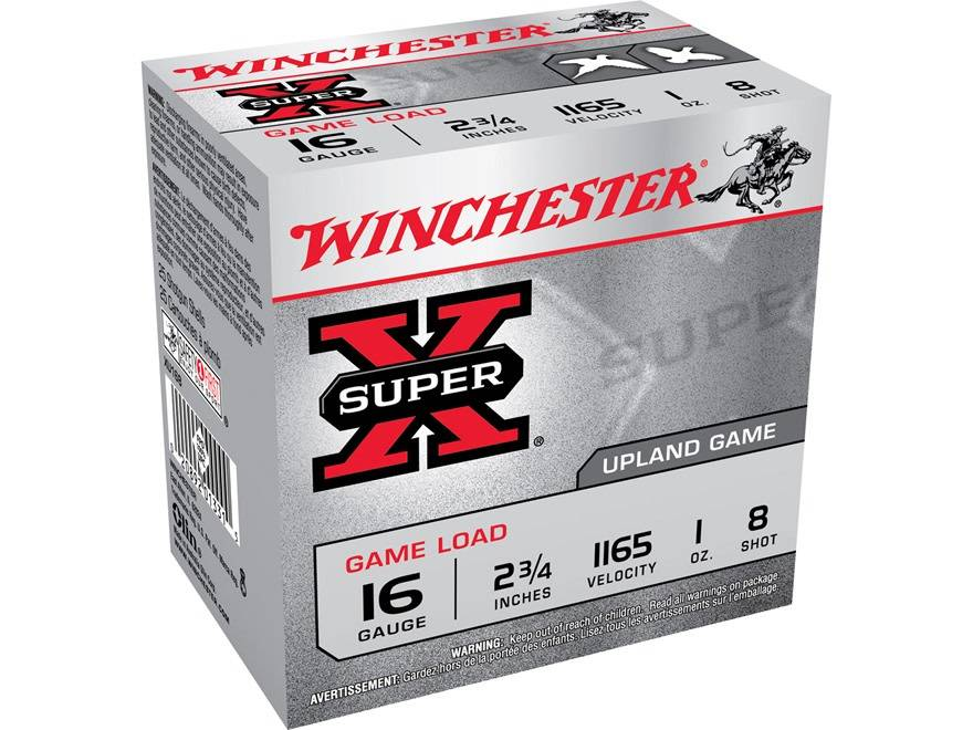"Winchester Winchester Super X 16 Gauge 2 3/4"" #8 Box Of 25"