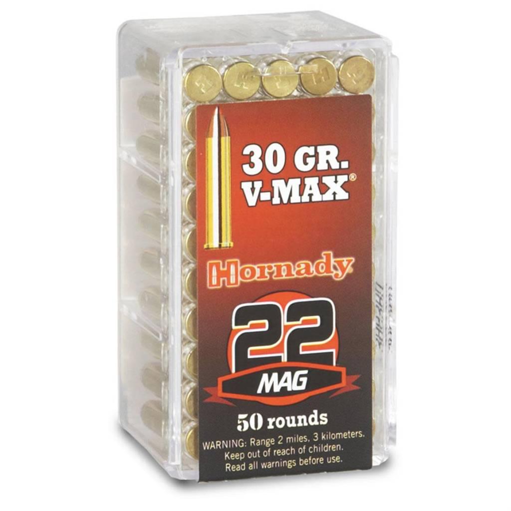 Hornady Hornady 22 Mag 30 Grain V-Max Box Of 50