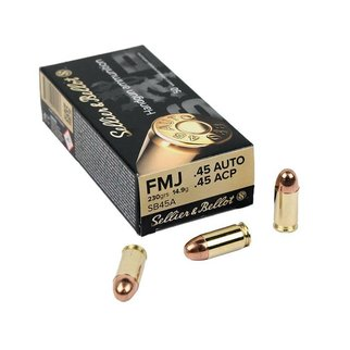Sellier & Bellot Sellier & Bellot 45ACP 230g, FMJ, Box of 50