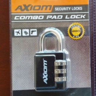 Axiom Combo Pad Lock