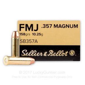 Sellier & Bellot Sellier and Belllot .357 Magnum 158 Grains FMJ