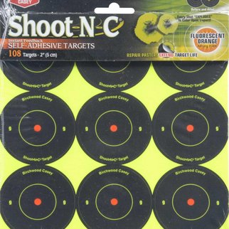 "Birchwood Casey Shoot N C Birchwood Casey 2"" 108 Reactive Self Adhesive Targets"