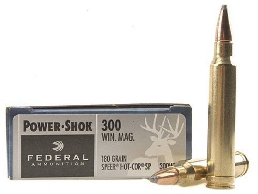 Federal Ammunition Federal .300 Win Mag 180 Grain Speer Hot-COR SP