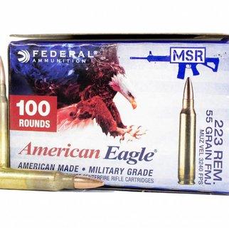 Federal Ammunition AMERICAN EAGLE .223 55GR FMJ-BT AMMUNITION - 100