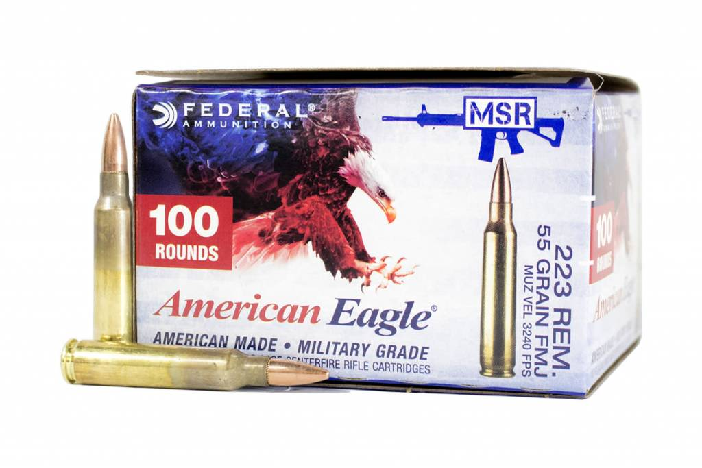 Federal Ammunition AMERICAN EAGLE .223 55GR FMJ-BT AMMUNITION - 100