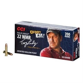 CCI CCI Maxi-Mag Ammunition 22 Winchester Magnum Rimfire (WMR) Troy Landry Special Edition 40 Grain Jacketed Hollow Point