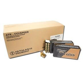 Blazer (CCI) CCI Blazer Brass 9mm 115gr  FMJ Bulk of 1000/Case