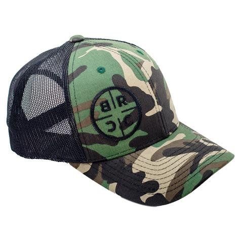Black Rifle Coffee BRCC TRUCKER HAT - CAMO WITH BLACK MESH