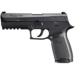 "Sig Sauer Sig Sauer P320 Semi-Auto Pistol, 9mm, 4.7"" Barrel, 10 Round, SIGLITE Night Sights, Polymer Grips, Black Steel, Nitron Coated"