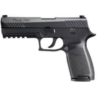 "Sig Sauer Sig Sauer P320 Semi-Auto Pistol, 9mm, 4.7"" Barrel, 10 Round, SIGLITE Night Sights, Polymer Grips, Black Steel, Nitron Coated"
