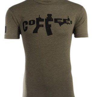 Black Rifle Coffee BRCC - AR COFFEE SHIRT - GREEN - SMALL