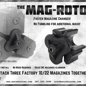 Matador Arms Corp MAG-ROTOR - RUGER 10/22 MAGAZINE CLAMP
