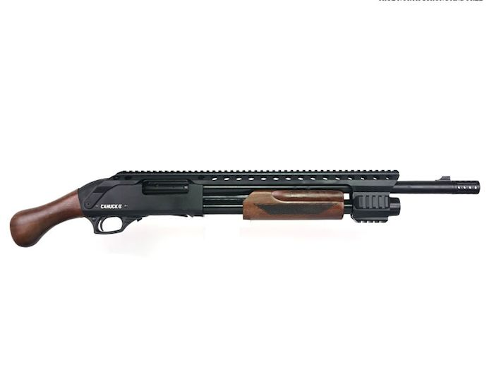 """Canuck Canuck Renegade Pump Action Shotgun, 12 Gauge, 3"""", 14"""" Barrel, 3 Mobile Chokes, Breecher Choke, Synthetic Raptor Grip and Fixed Stock Included"""