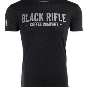 Black Rifle Coffee BRCC COMPANY T-SHIRT GRAY LOGO: VINTAGE MEDIUM