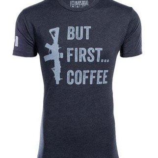 Black Rifle Coffee BRCC BUT FIRST COFFEE SHIRT - Large