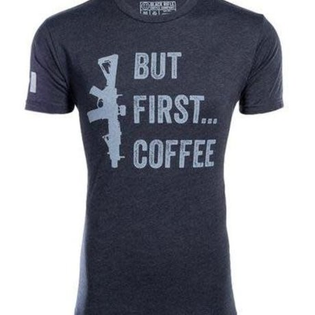 Black Rifle Coffee BRCC BUT FIRST COFFEE SHIRT - Large