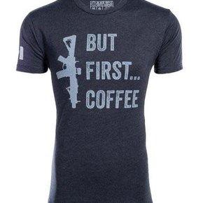 Black Rifle Coffee BRCC BUT FIRST COFFEE SHIRT - X-LARGE