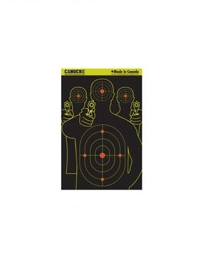 Canuck Canuck Reactive Targets 12x18 25 Silhoutte Targets