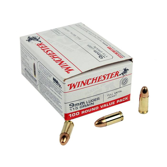 Winchester Winchester 9mm 115gr FMJ 100rd Value Pack