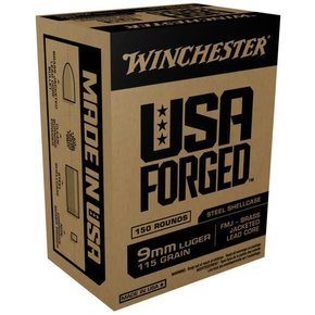 Winchester Winchester 9mm USA Forged, FMJ 115 Grain Box of 150