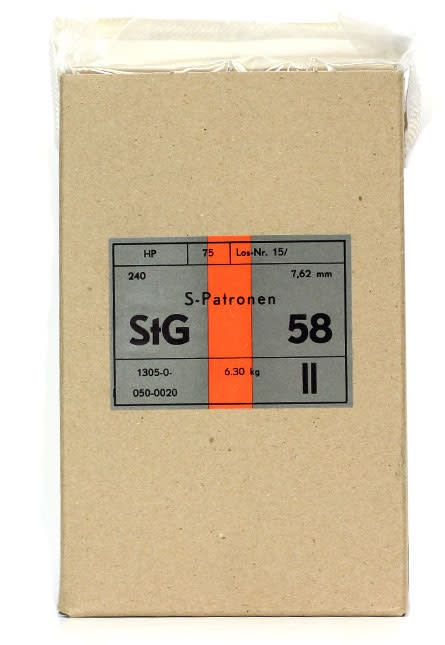 Surplus Hirtenberger .308 Win (7.62x51), 146gr, FMJ, 240 rds