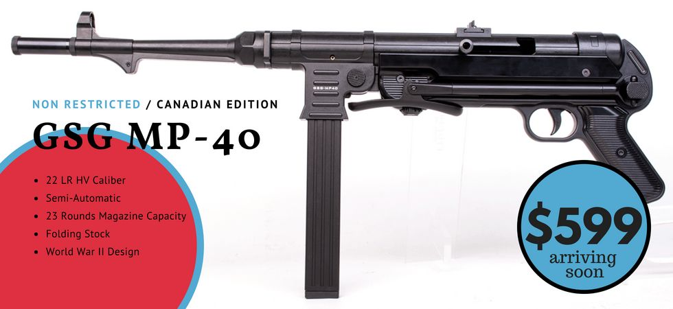 GSG GSG, MP-40, 22 LR Semi-Auto Rifle, NON RESTRICTED – PRE-ORDER/DEPOSIT ONLY