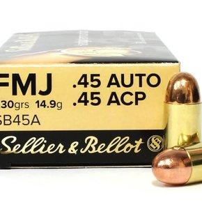 Blazer (CCI) Sellier & Bellot 45 ACP, 230gr, FMJ, Case of 1,000